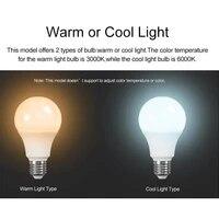Ampoule LED intelligente wi-fi  9W E27  controle par application  Assistant de fonctionnement  lampe de reveil intelligente  veilleuse pour maison