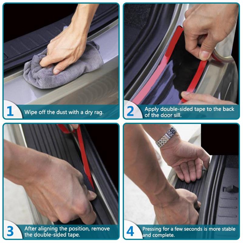 Car Rear Bumper Trim Guard Plate Protector For Bmw e39 e46 e90 f30 f10 f01 f20 f32 f33 e60 Performance Rubber Sticker 90CM