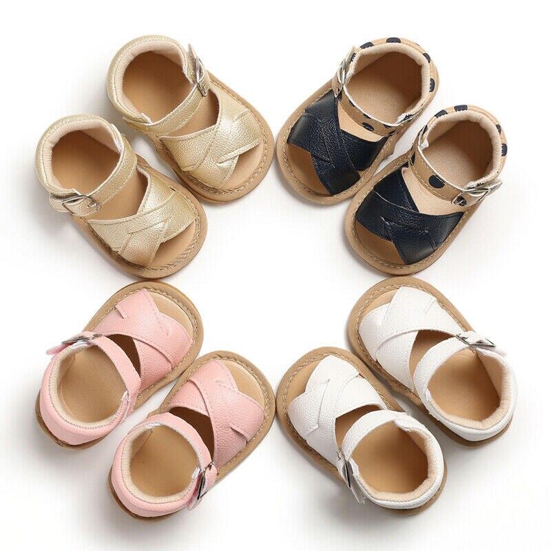 Sandalias de verano para niñas pequeñas de 0 a 18 meses, sandalias para niñas, zapatos informales suaves para recién nacidos