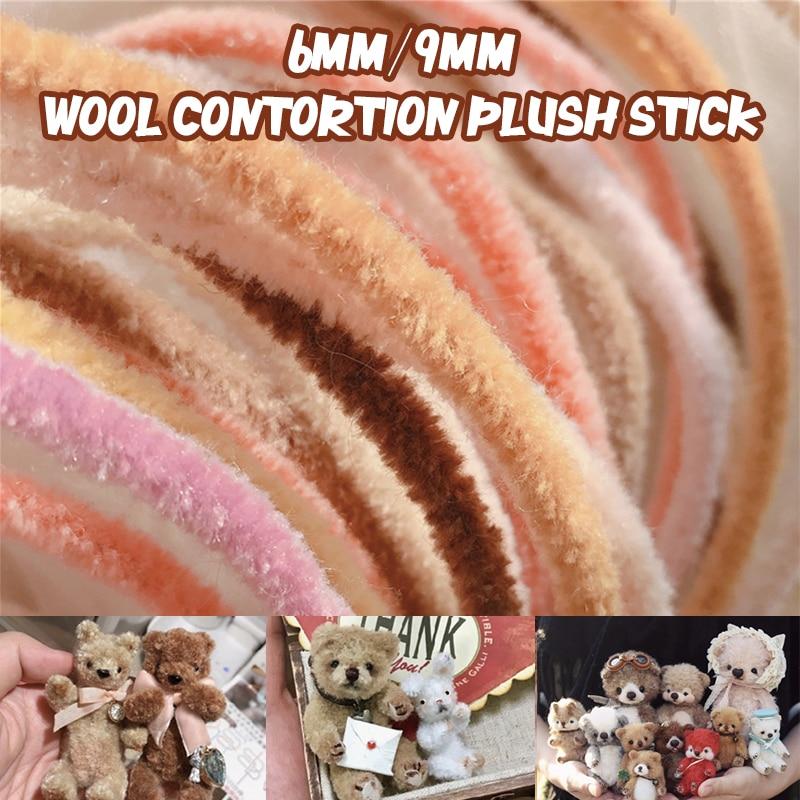 3mm/6 milímetros de feltro de lã lã interessante deformação vara DIY handmade mini boneca pequeno animal de Pelúcia material de boneca inacabado