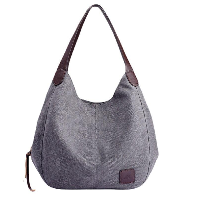 جديد حقيبة قماش قنب المرأة حقيبة الموضة تنوعا الأدب والفن بسيط الكورية حقيبة يد واحدة متعددة مقصورة حقيبة الترفيه