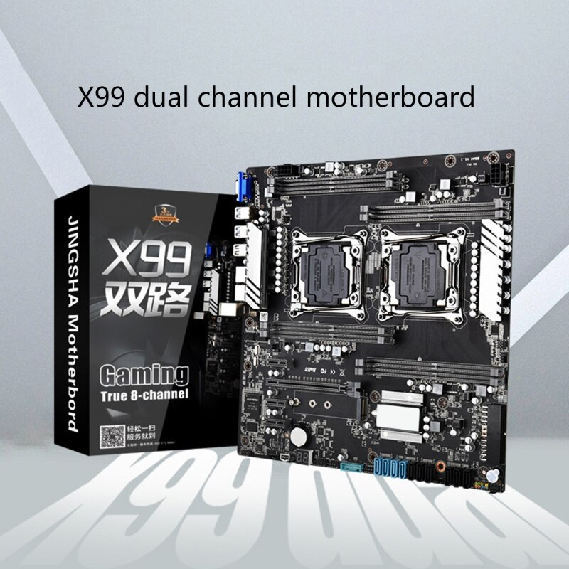 K92F X99 Dual Motherboard Dual CPU Motherboard LGA 2011-3 E5 V3/V4 DDR4 256GB USB3.0 M.2 NVME E-ATX Server Mainboard