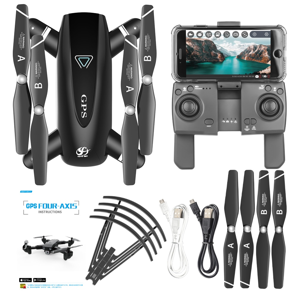 2020 New GPS Drone With 4K Camera 5G WIFI FPV RC Foldable Quadcopter Drone Flying Gesture Photos Video Helicopter Toy enlarge