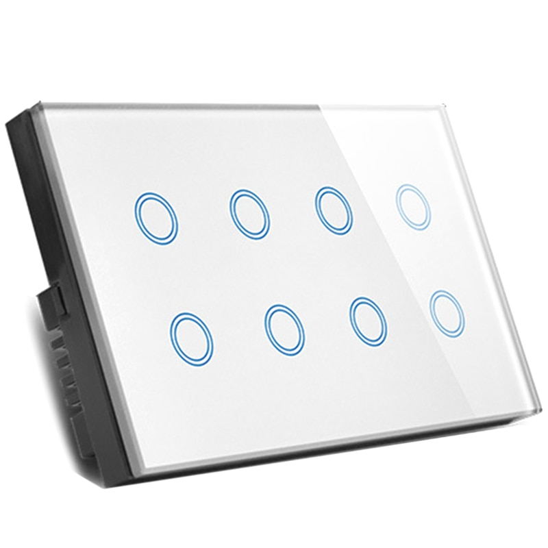uk plug wifi inteligente imprensa interruptor de parede luz tomada gl painel 8 gang