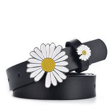 Daisy Jeans Belt for Women Minimalism Elegant Flower Designer Buckle Belts Waist Strap Girls Ladies