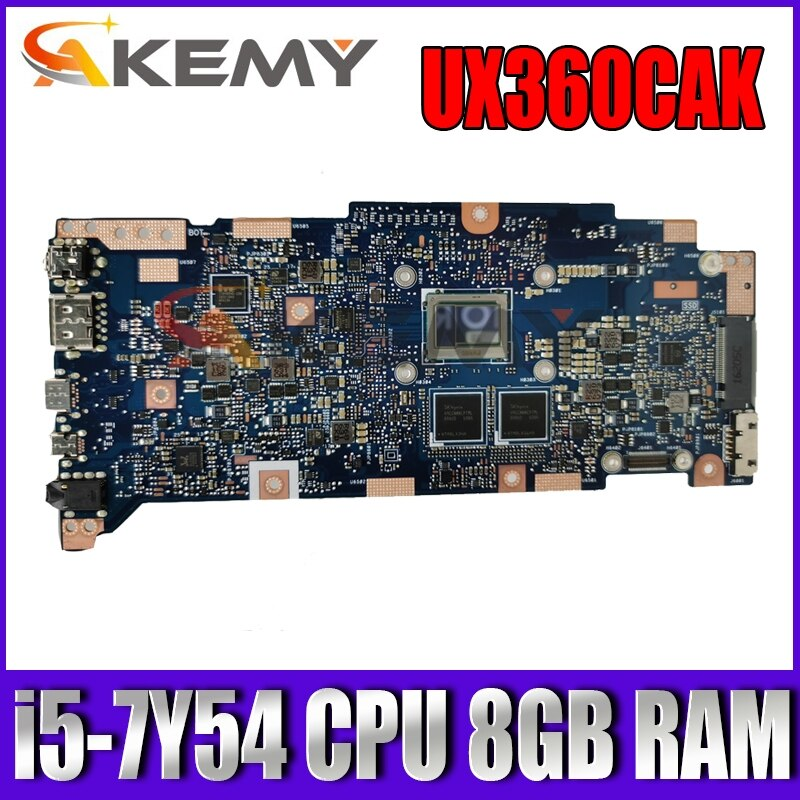 UX360CAK اللوحة الأم i5-7Y54 وحدة المعالجة المركزية 8GB RAM ل ASUS Zenbook UX360C UX360CA UX360CAK Ultrabook اللوحة الرئيسية للكمبيوتر المحمول UX360CAK