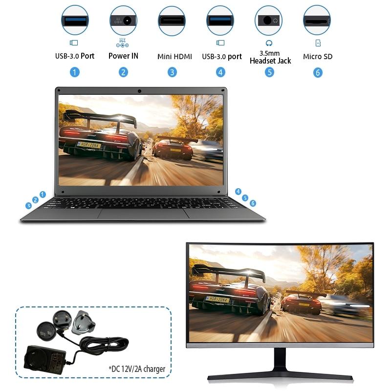 BMAX S13A 13.3 inch Intel N3350 Laptop window10 Notebook 8GB LPDDR4 128GB SSD 1920*1080 IPS Intel  Laptops
