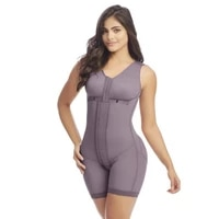 shapewear women corset thigh trimmer hook and eye closure adjustable breast support tummy control bodysuit