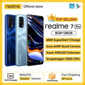 Realme 6 NFC глобальная версия 4 Гб 128 Гб мобильный телефон 90 Гц дисплей Helio G90T 30 Вт флэш-зарядка 64 мп камера телефон телефоны Android