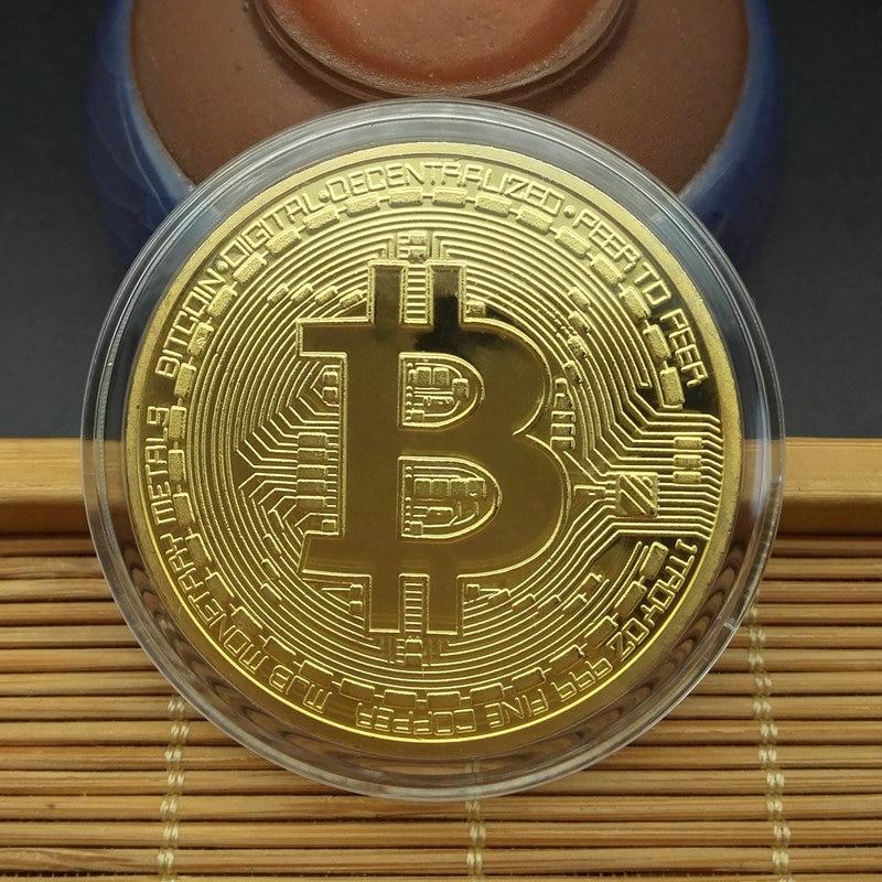 aliexpress.com - Commemorative Coin Creative Souvenir Gold Plated Bitcoin Coin Collectible Great Gift Bit Coin Art Collection Physical Gold