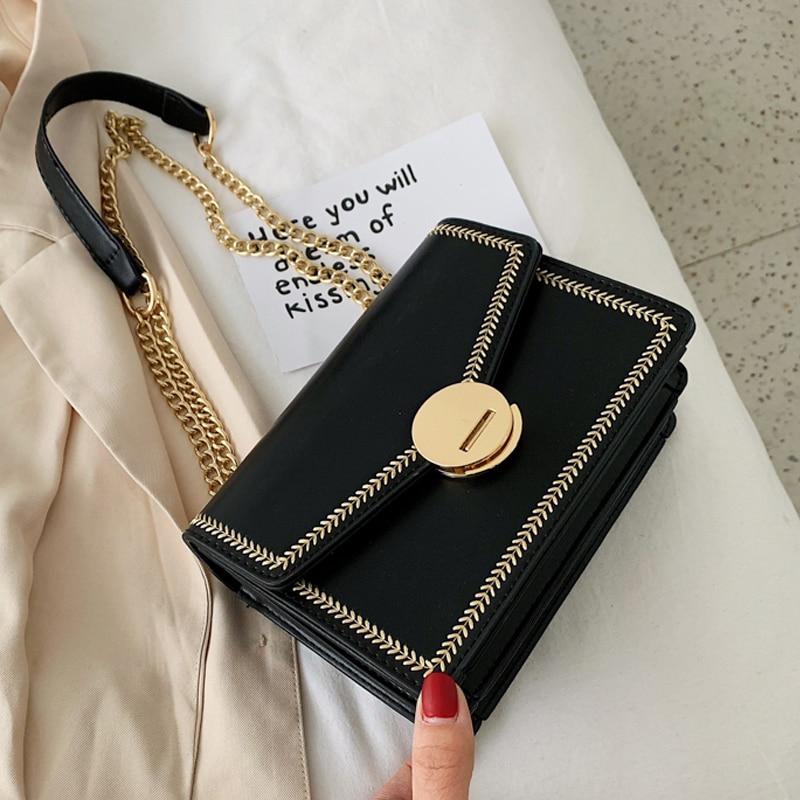 MONNET CAUTHY 2019 bolsas nuevas para las mujeres de moda clásica de elegante estilo chic bolso de Color sólido amarillo verde negro blanco solapa