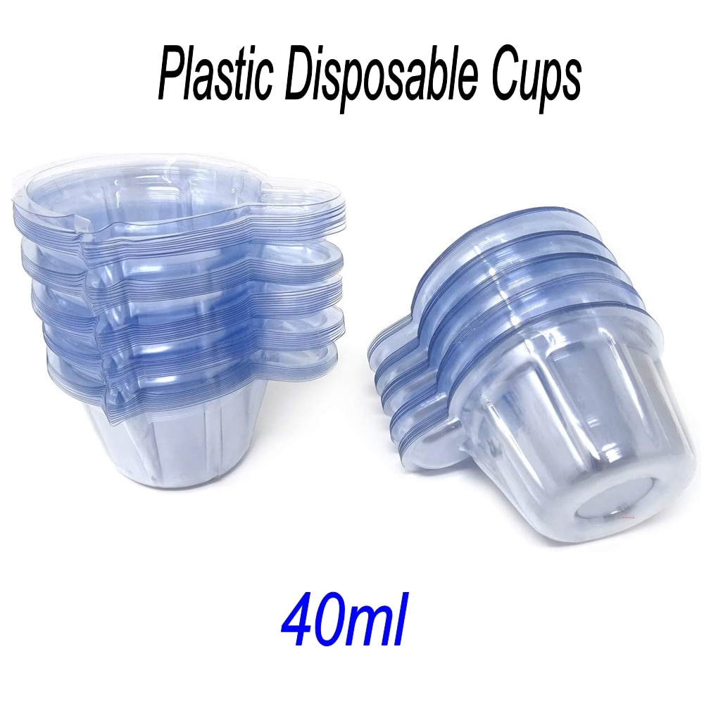 20/50Pcs 40ml Disposable Plastic Cups for DIY Crystal UV Epoxy Resin Mixing Cups Dispenser Silicone Mold Kit Jewelry Making Tool