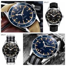 Corgeut 41mm Miyota 8215 automatic mans mechanical watch waterproof luminescent sterile dial calendar sapphire glass nylon