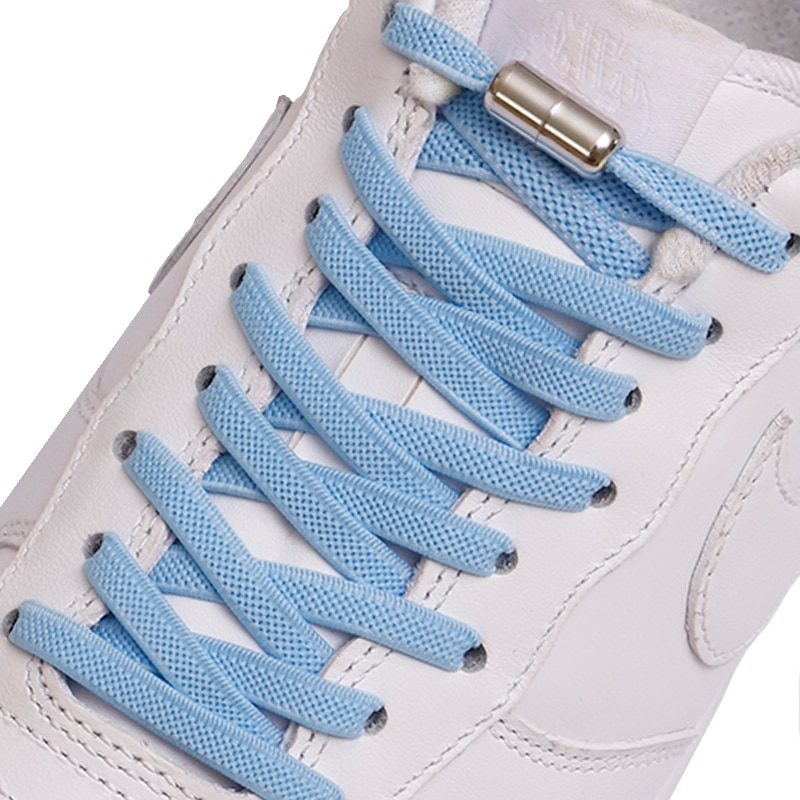 New No Tie Shoe laces Elastic Shoelaces Metal Lock Creative Kids  Sneakers Flat Shoelace Fast Safety Lazy Laces Uni