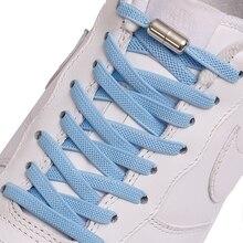 Nouveau pas de lacets de chaussure de cravate lacets élastiques serrure en métal créatif enfants baskets adultes lacet plat sécurité rapide lacets paresseux unisexe
