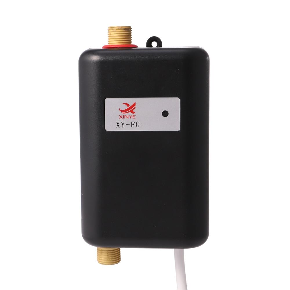 3800 واط سخان مياه صغير مصغرة المياه الحرارة الحنفية الكهربائية للمطبخ بالوعة حوض الحمام مع الاتحاد الافريقي التوصيل (أسود)