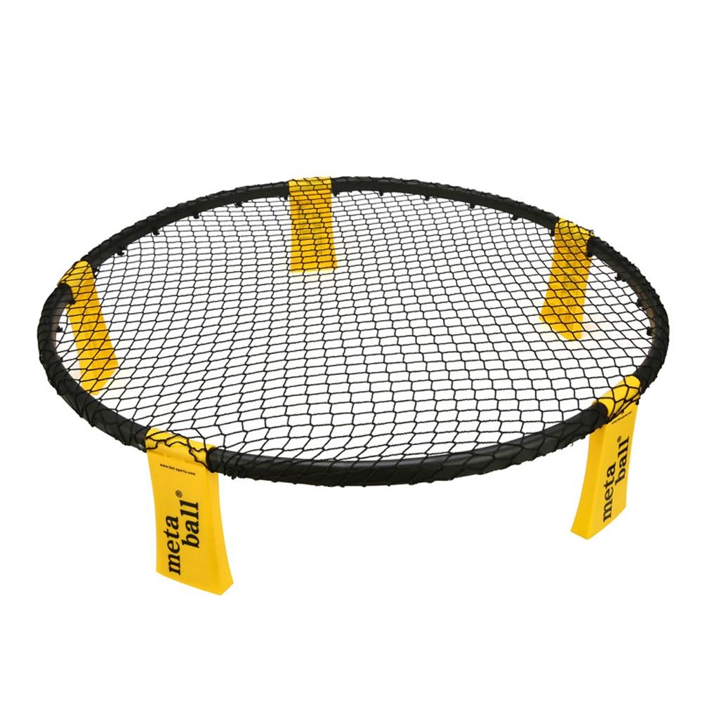 Mini Beach Volleyball ball Game Set Outdoor Team Sports Lawn Fitness Equipment Net With 3 Balls Volleyball Net 4PCS Spikeball