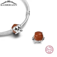 925 sterling silver beads animal monkey zodiac jewelry red bead pendant charm bracelet suitable for woman fashion jewelry
