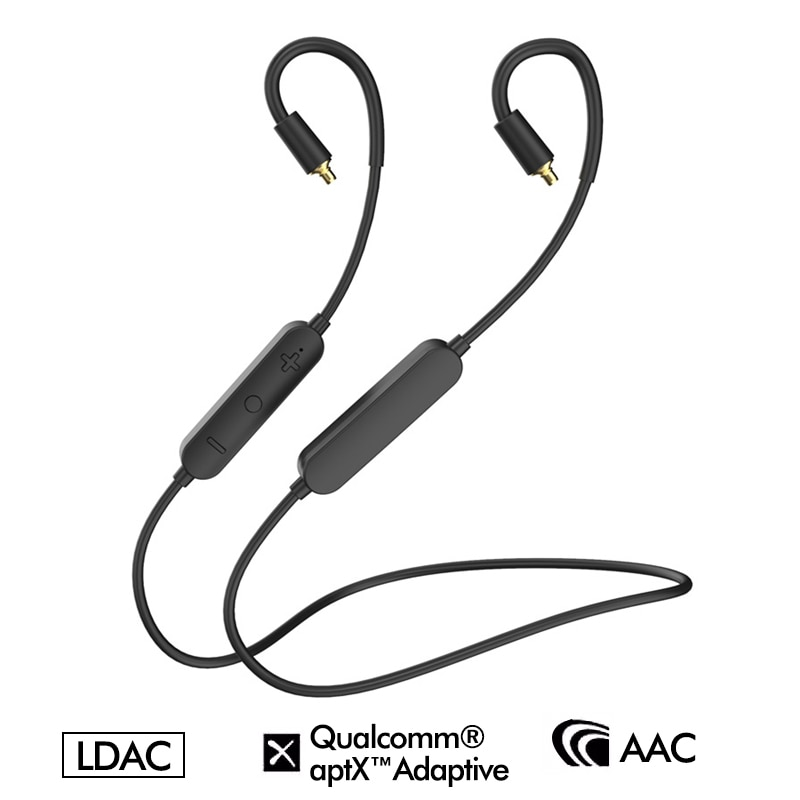 LDAC APTX التكيف TWS HiFi سماعات أذن لاسلكية مزودة بتقنية البلوتوث استقبال مكبر للصوت AAC MMCX 2Pin QDC IE80 IE400/IE500 IE40PRO IM50 A2DC