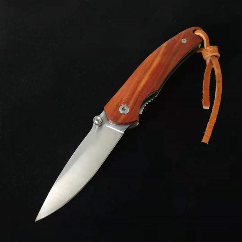 Деревянная ручка складной Ножи, L043High-Hardness Сталь бытовой маленький Ножи, Открытый Кемпинг Flshing Пеший Туризм EDC инструмент фрукты Ножи