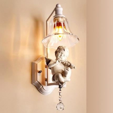 Lámpara colgante moderna, luminaria para dormitorio, espejo de cristal claro, luz para...