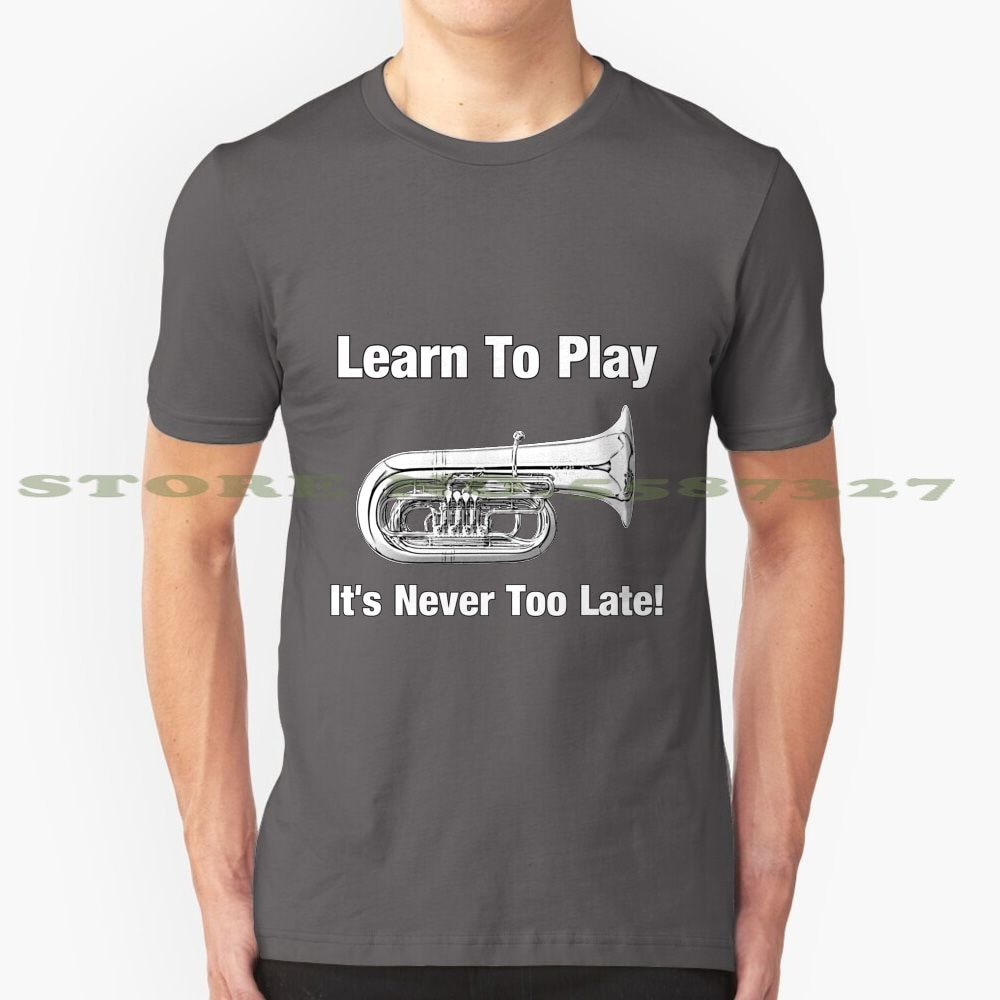 Aprender a tocar la Tuba diseño de moda camiseta Tuba trombón trompeta saxofón clarinete música Basoon inglés cuerno Obe de madera