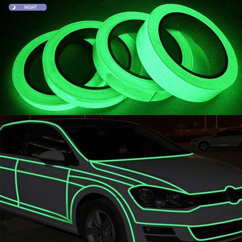 new arrival hot sale luminous photoluminescent tape glow in the dark stage home decoration 10 meters Luminous Tape Green Reflective 5M Glow In The Dark Stage Staircase Decorative Sticker  Home Decoration Fluorescent Luminescent