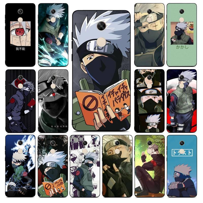 Lvtlv Anime Naruto Kakashi Telefoon Case Voor Redmi Note 4 5 7 8 9 Pro 8T 5A 4X Case