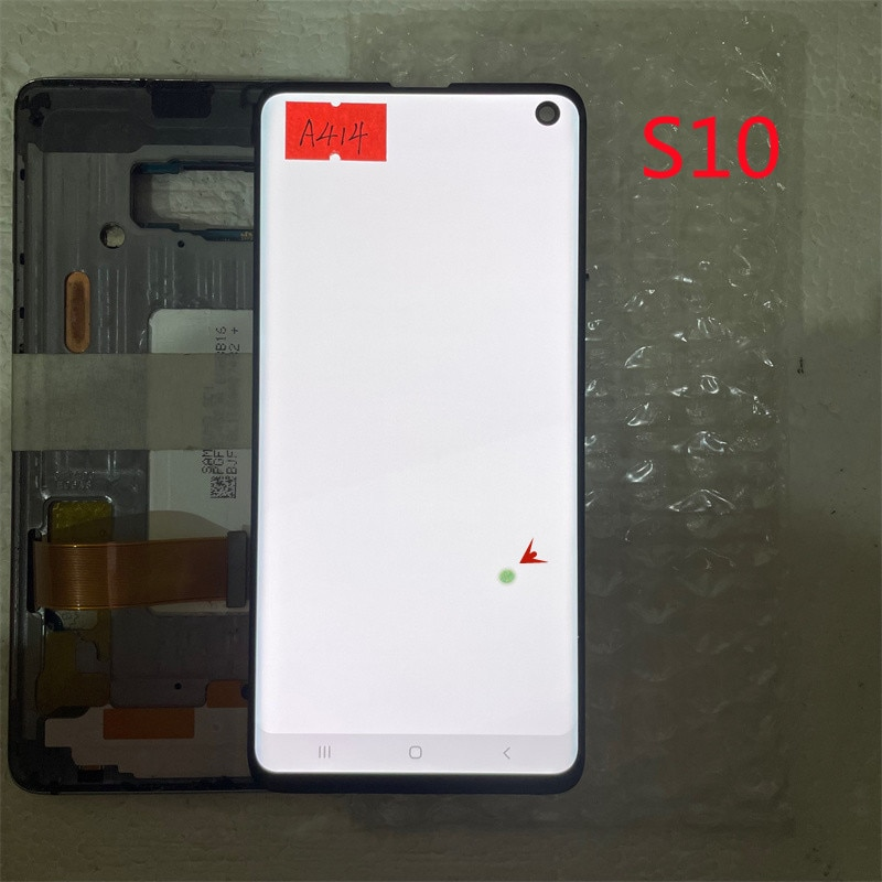 Original LCD For Samsung S10 G973 SM-G9730 G973F LCD Display and Touch Screen Digitizer Assembly Parts With Frame Defect screen enlarge