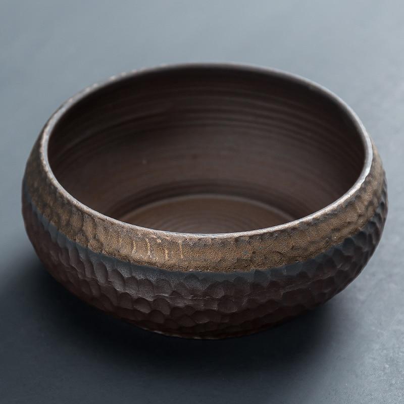 Japanese Ceremony Water Tea Wash Residue Jar Accessories Stoneware Tea Wash Bowl Ceramic Tazas Ceremonia Del Te Teaware DH50CX