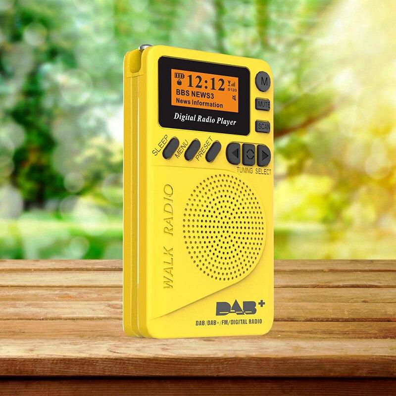 2020 novo p9 mini bolso rádio portátil dab + rádio digital bateria recarregável rádio fm display lcd ue p9 dab altifalante