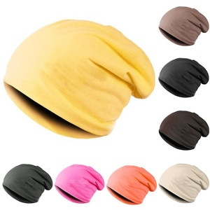 New Slouchy Hat Spring Autumn Solid Color Fashion Hats Classic Casual Hats Cotton Female Hat Women Men Sleeve Beanie Cap Hip Hop