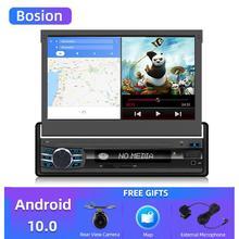 Bosion Radio de coche 1 din Android 10 Wifi Autoradio reproductor estéreo navegación GPS Universal pantalla retráctil Bluetooth Cámara gratis