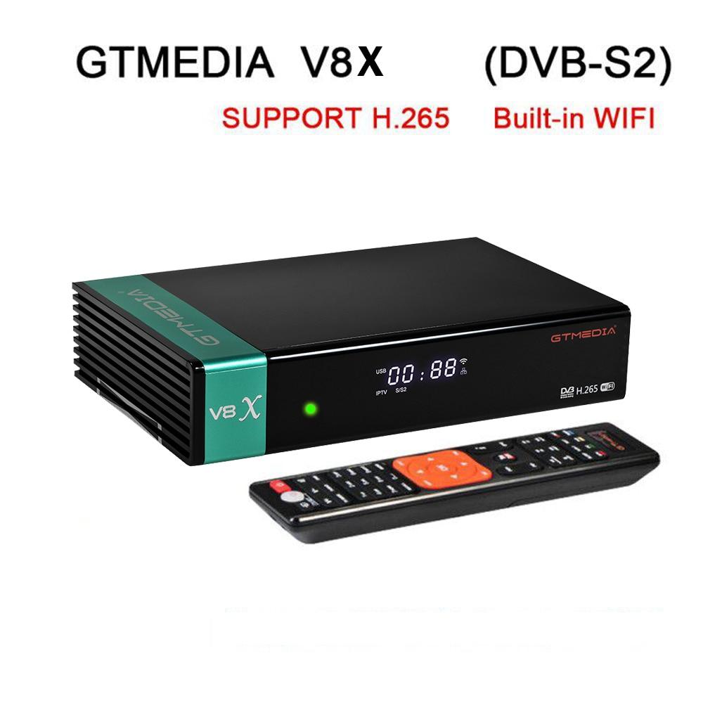 Original GT media V8X HD satellite Receiver DVB-S2 S2X Full HD USB 2.0 Europe CCAM SAT Decoder Receptor PK V8 HONOR V8 NOVA