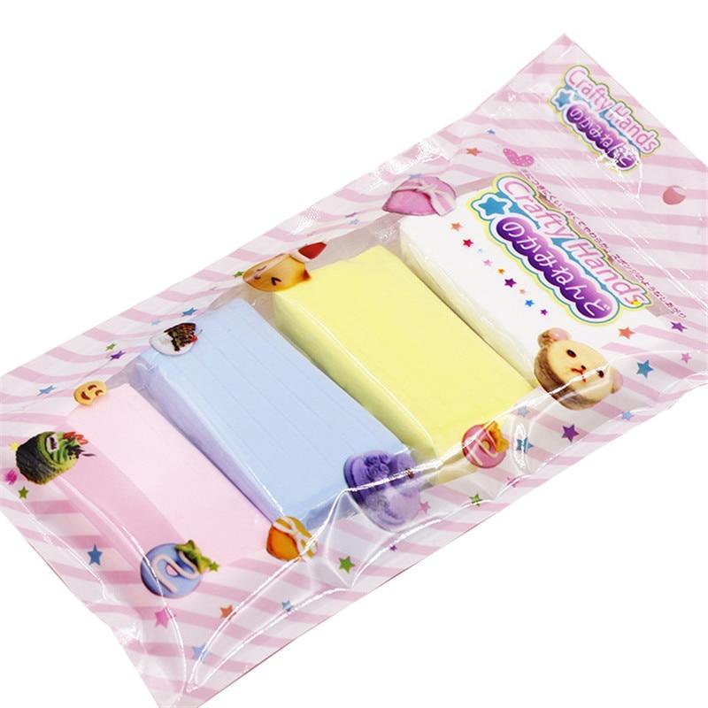 4 unids/set 100g nuevo barro colorido papel suave arcilla plastilina para dibujo suministros Slimes pegamento mullido juguete educativo para niños regalo