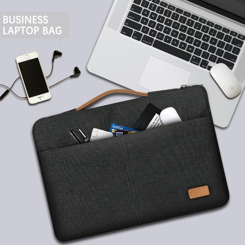 Repelente al agua portátil manga bolsa con mango para 13 pulgadas MacBook Pro aire estuche portador de Laptop para 15,6 pulgadas Acer Dell HP ASUS