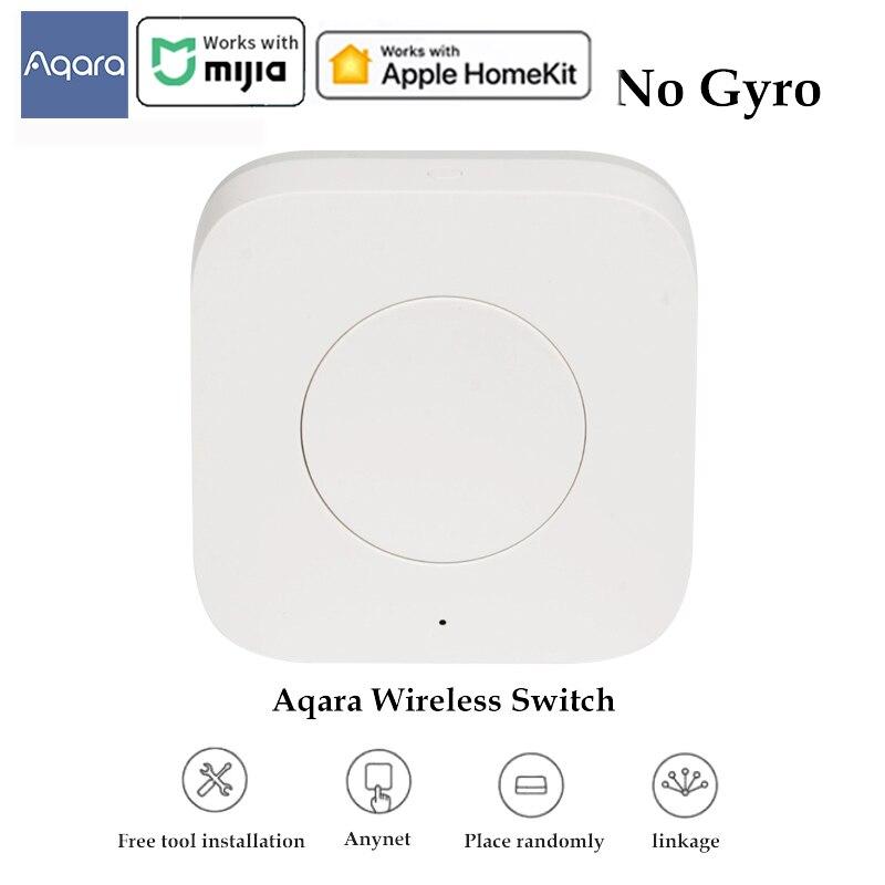 Aqara Zigbee Mini interruptor inalámbrico remoto inteligente una tecla 3-Control de vía para dispositivos inteligentes de hogar Compatible con HomeKit Mi aplicación para hogares