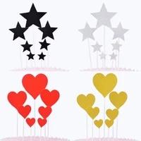 birthday cake decoration insert card five pointed star love star dessert cake insert card star love decoration plug in