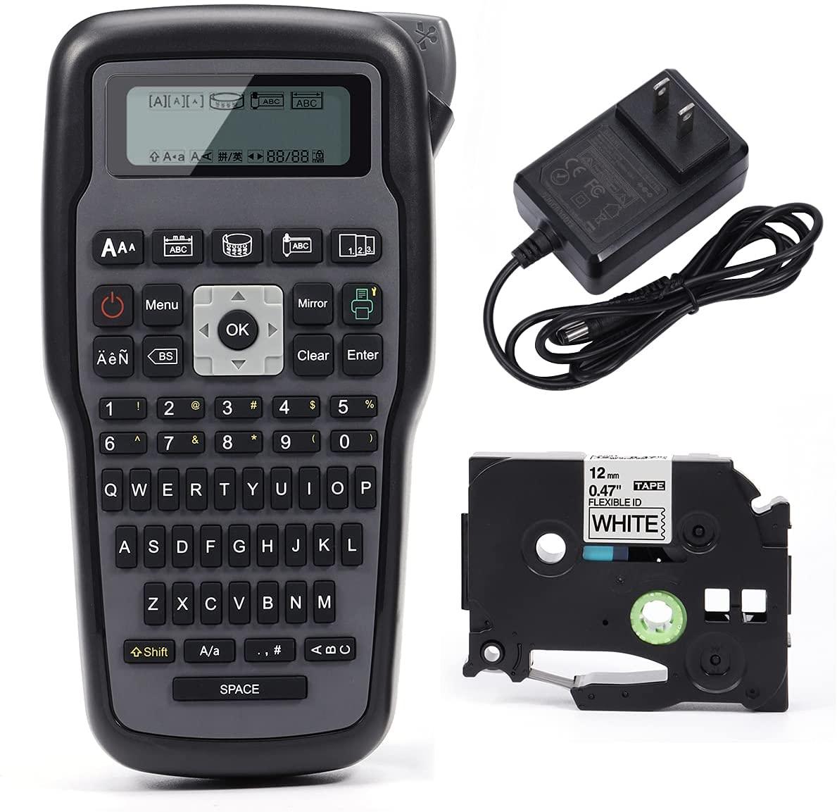 E1000 برو طابعة صانع التسمية الصناعية استبدال P اللمس TZe شريط ملصقات لوحة مفاتيح كويرتي رموز متعددة ماكينة طباعة الباركود