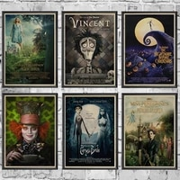 Classique film Art affiche Alice au pays des merveilles Zombie mariee decoration de la maison Club cinema mur retro toile peinture photo murale