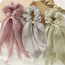 Bonbons couleur femmes cheveux Scrunchie nœuds élastique pour queue de cheval bandeau noeud noeud Scrunchy filles cheveux fleurs cravates accessoires de cheveux