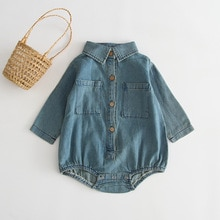 Yg Brand Children's Wear, Spring And Autumn New Baby Soft Denim Jumpsuit, Fashion Long Sleeve Baby C