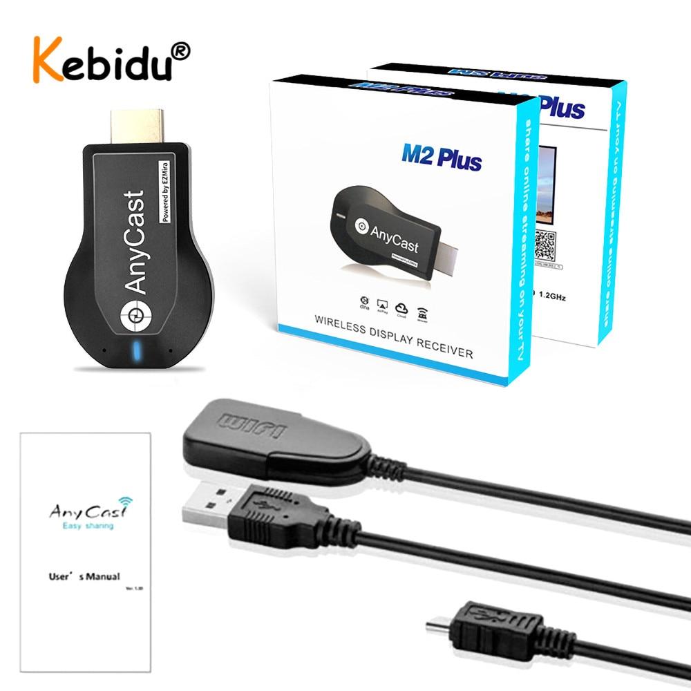 Para Anycast M2 Plus HDMI TV Stick reflejo de pantalla inalámbrico WiFi Display TV Dongle receptor Miracast Airplay Android IOS
