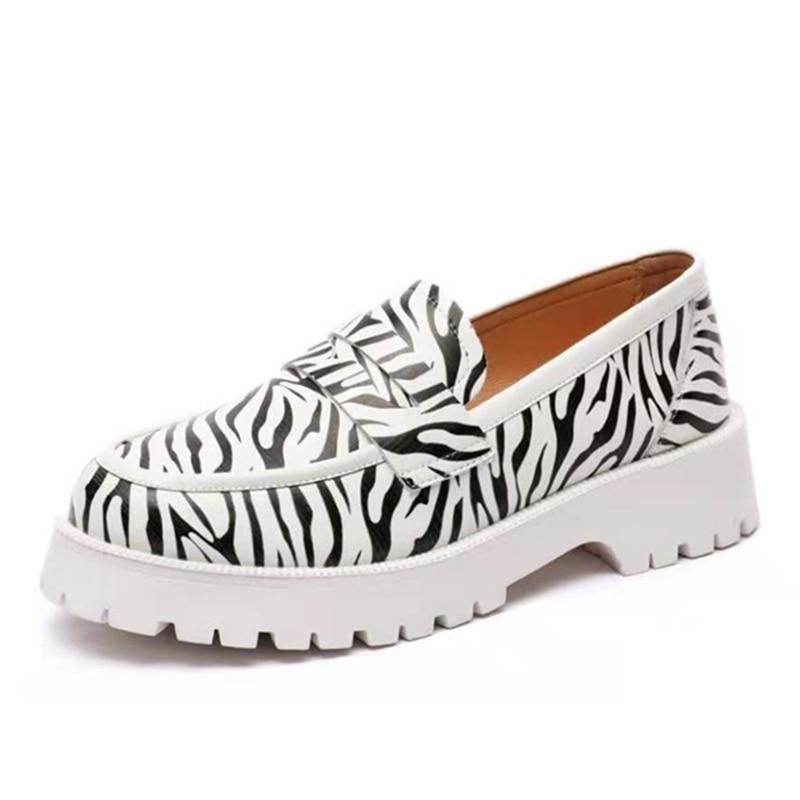 AIYUQI أحذية النساء ربيع 2021 جديد حقيقي أحذية جلدية بدون كعب الفتيات موضة النمط البريطاني طالب أحذية النساء