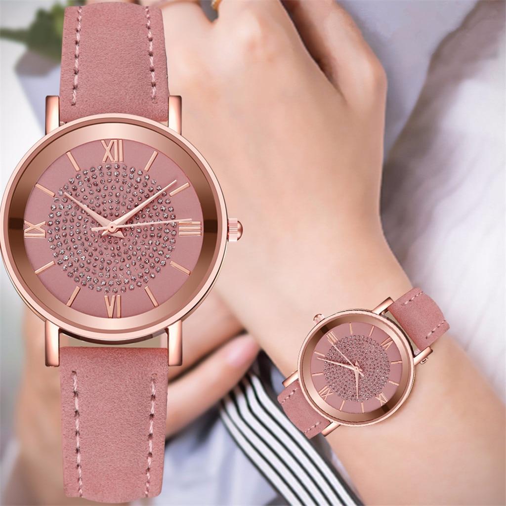 Female Wristwatch for Gift Clock Casual Women Romantic Wrist Watch Leather Ladies Clock Simple Gfit Orologio Donna Ceasuri Hot&5