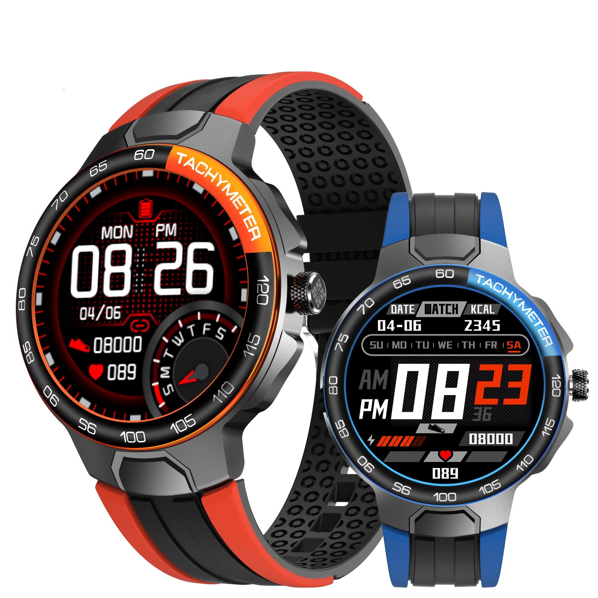 E15 Smart Watch Men Heart Rate Blood Pressure IP68 Waterproof Weather Sports GPS Track Fitness Motion Smartwatch PK P8 L5 L8 E13