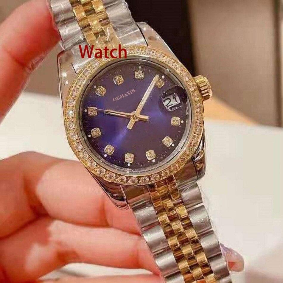 Luxury brand 31mm ladies watch automatic mechanical sapphire glass white dial 316 stainless steel clock waterproof 5par enlarge