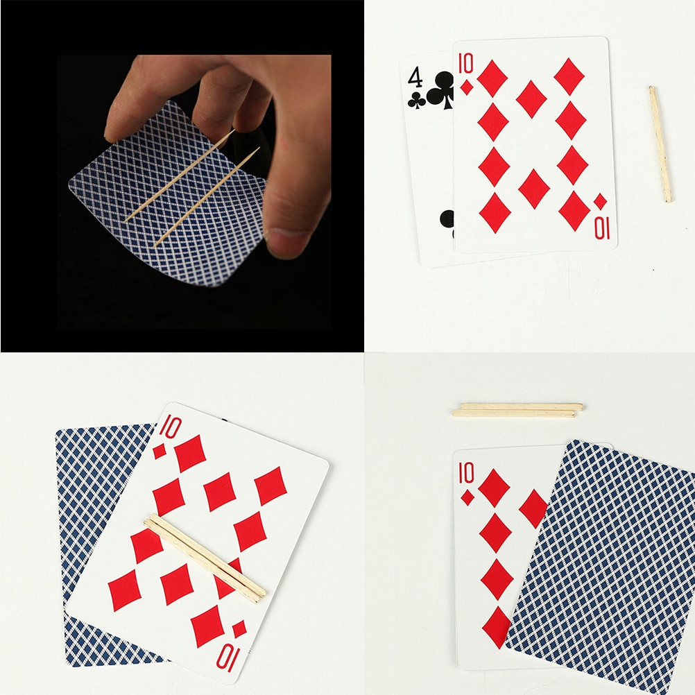 Toothpick Match on Card Magie Floating Match on Card Funny Magics Match Card Close-Up Magician Tricks сабвуфер match mercedes up w8mb s4