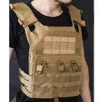 tactical body armor jpc molle plate carrier vest airsoft gun mag chest rig wargame paintball protective waistcoat hunting vest