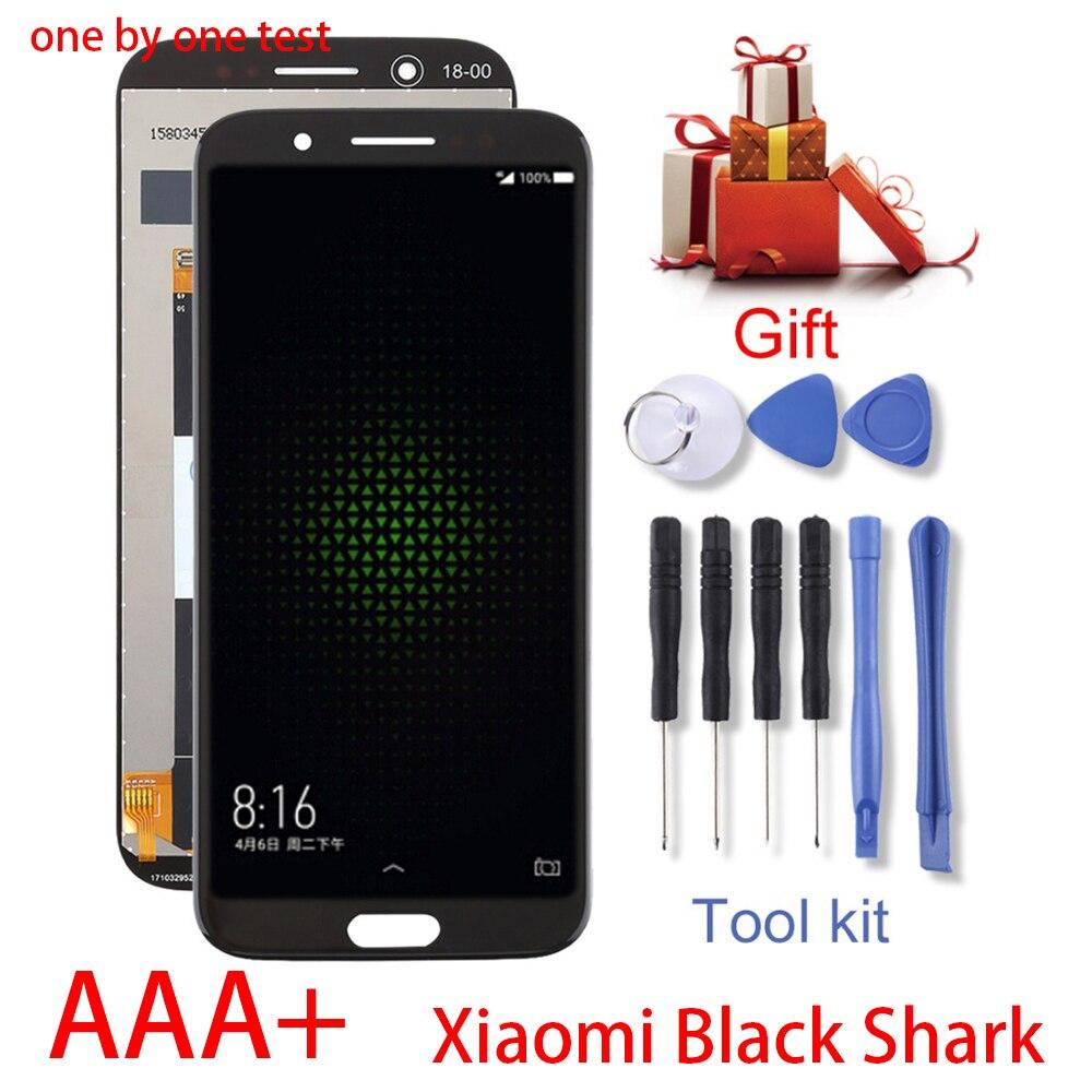 5.99 ''AAA جودة LCD ل شاومي الأسود القرش شاشة LCD تعمل باللمس محول الأرقام الجمعية ل شاومي BlackShark SKR-A0 LCD أدوات